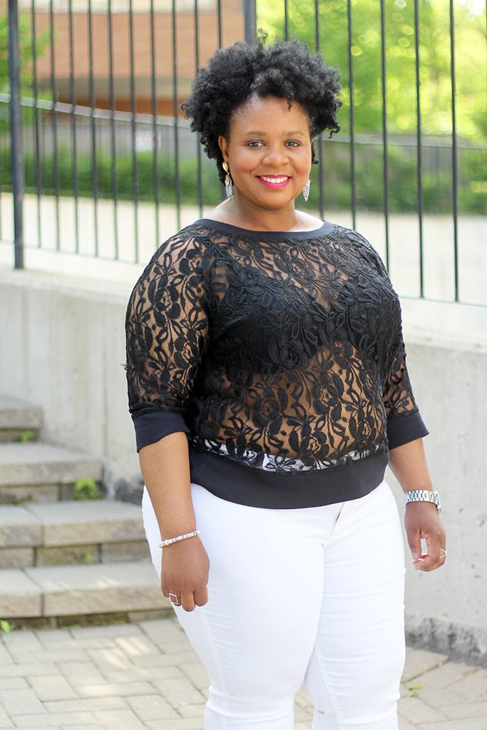 Fab Four Fashion: White Plus Size Jeans Day & Night ...