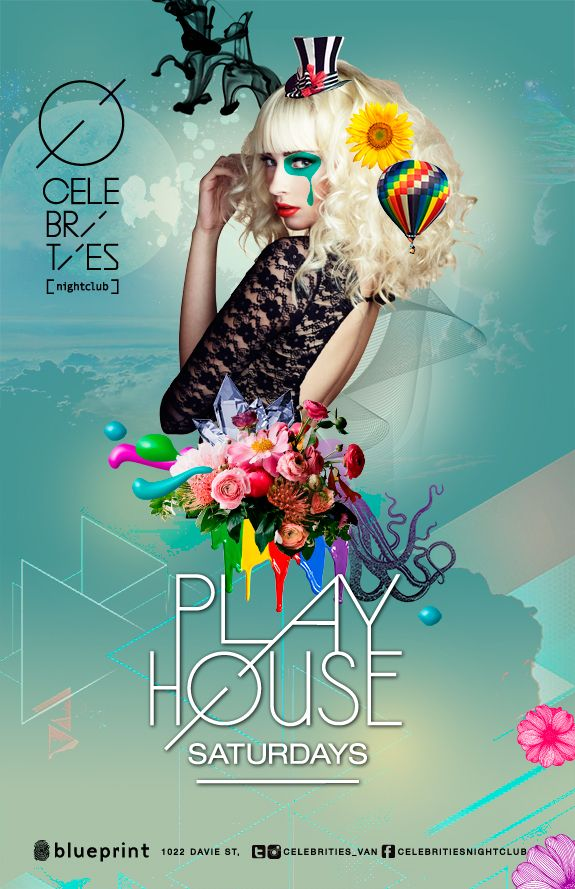 Celebrities Nightclub Re-Opening Posters 2013 By Nacional Branding