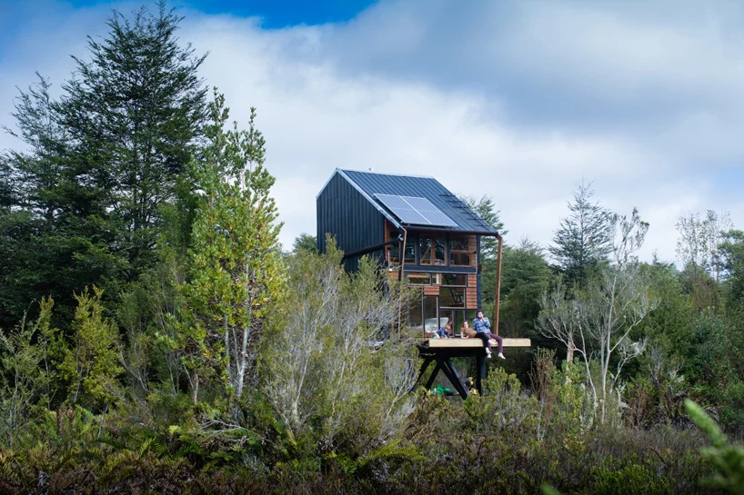 Chile Based Zerocabin Offers Kit Of Off Grid Zero Impact Cabins Cabin Architecture Pv Panels