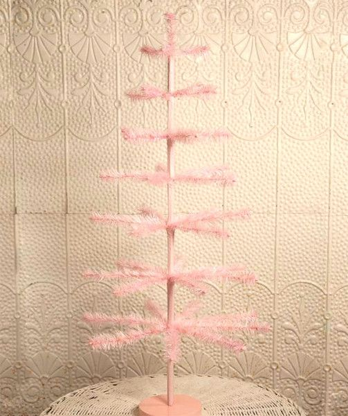 "Hurry Easter is on it's Way! Pink Feather Tree 36"" www.ShopTheShoppingBag.com"
