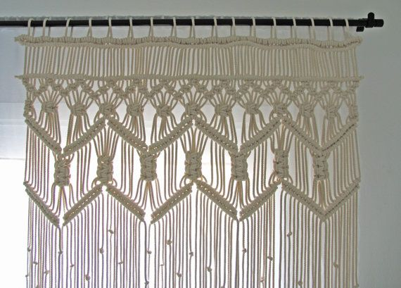 macrame large curtain living room bedroom custom lace curtain macrame wall hanging bohemian. Black Bedroom Furniture Sets. Home Design Ideas