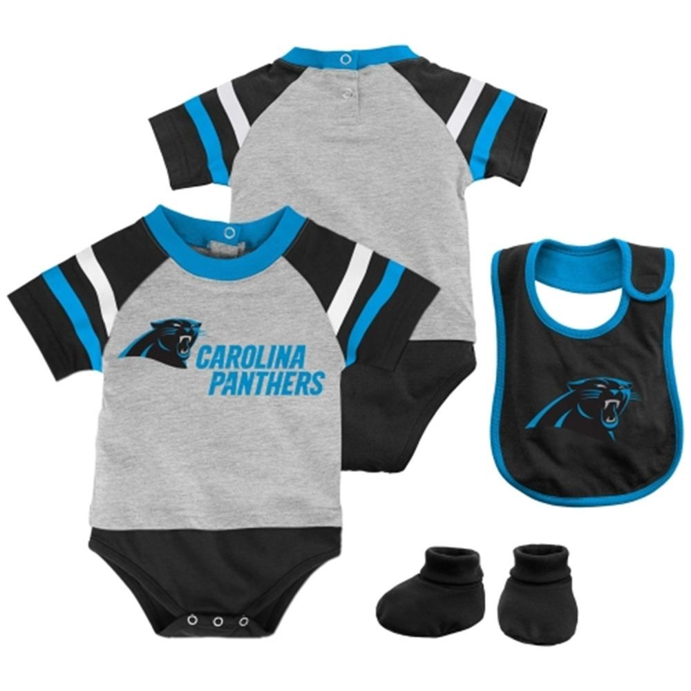Carolina Panthers Majestic Infant Little Player Creeper, Bootie