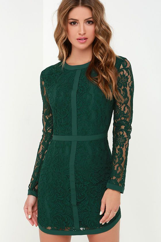 6 fabulous choices for dark green Christmas dresses | Green ...