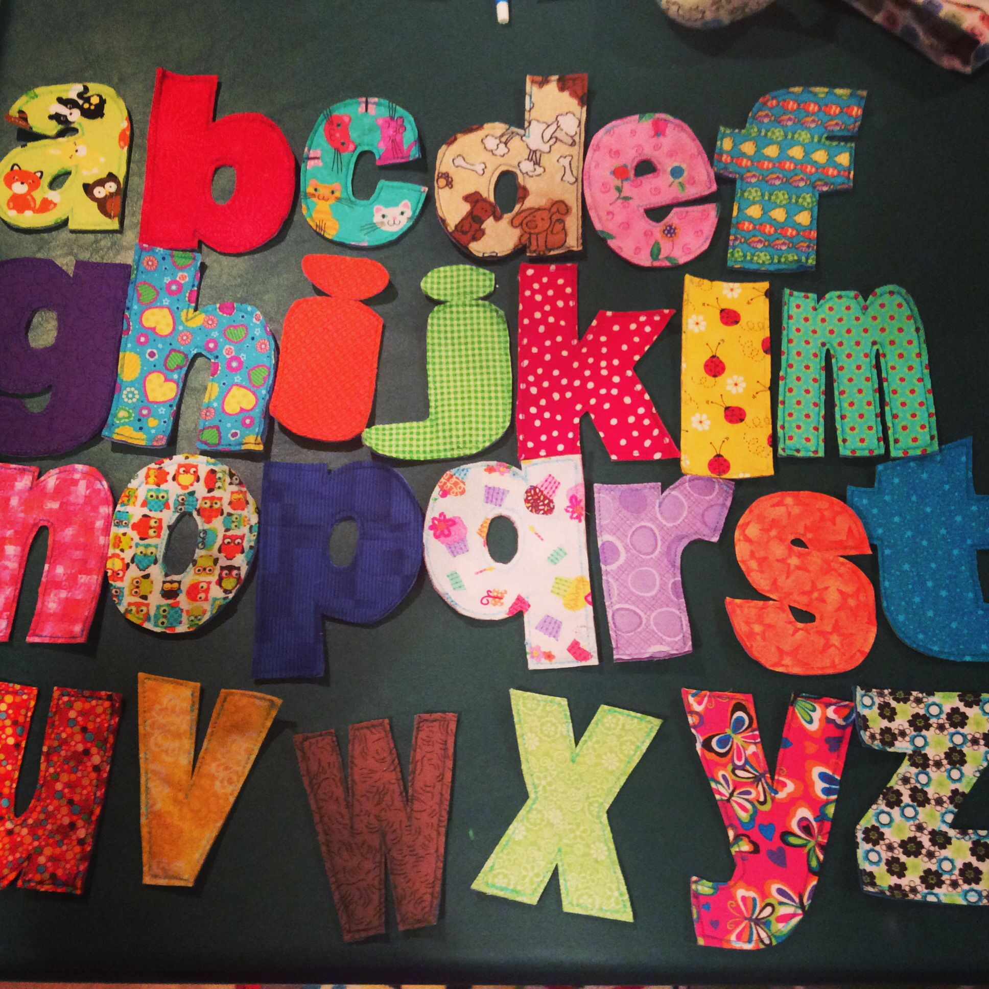 Fabric Lower Case Letters I Made For My Grandchildren