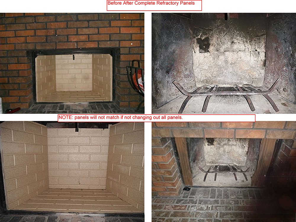 Before And After Photos Of Replacing All Four Refractory Panels Of