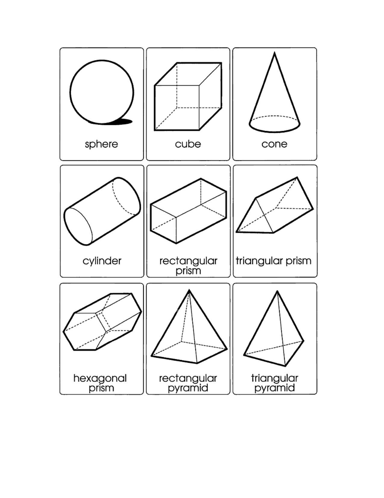 three dimensional shapes coloring pages - photo#14