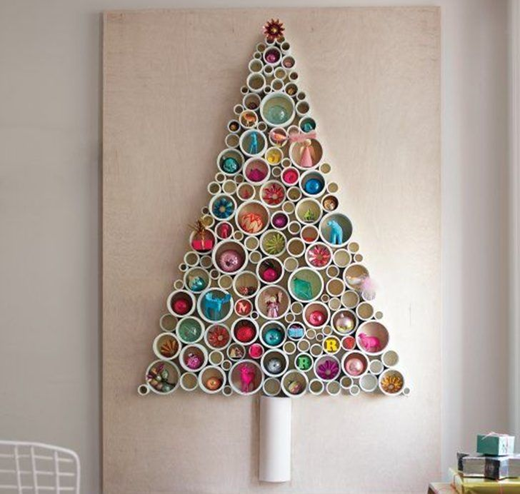 21 beautiful faux  DIY Christmas trees to brighten the season Diy