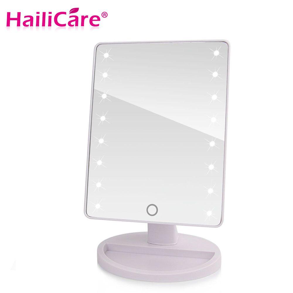 led touchscreen make spiegel professionele spiegel met 1622 led verlichting gezondheid schoonheid verstelbare aanrecht 180 roterende
