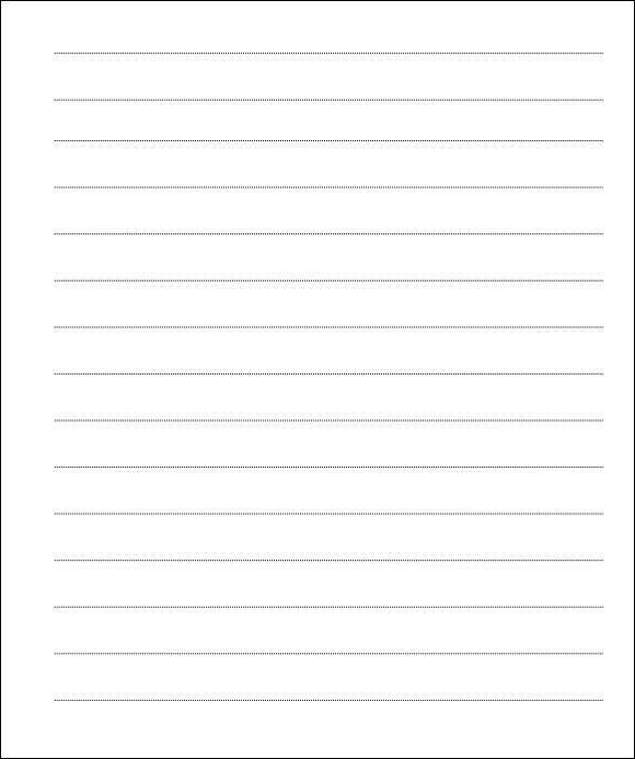 Lined Paper Template  Download Free Documents In Pdf Word Sample