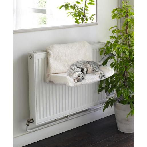 lit pour chat radiateur polyester 46 x 30 x 25 cm blanc id es pour la maison pinterest. Black Bedroom Furniture Sets. Home Design Ideas