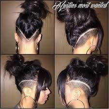 bildergebnis für women medium length hair shaved side