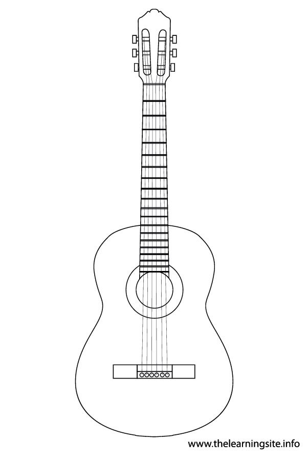 guitar template - Google Search | Coloring pages to print ...