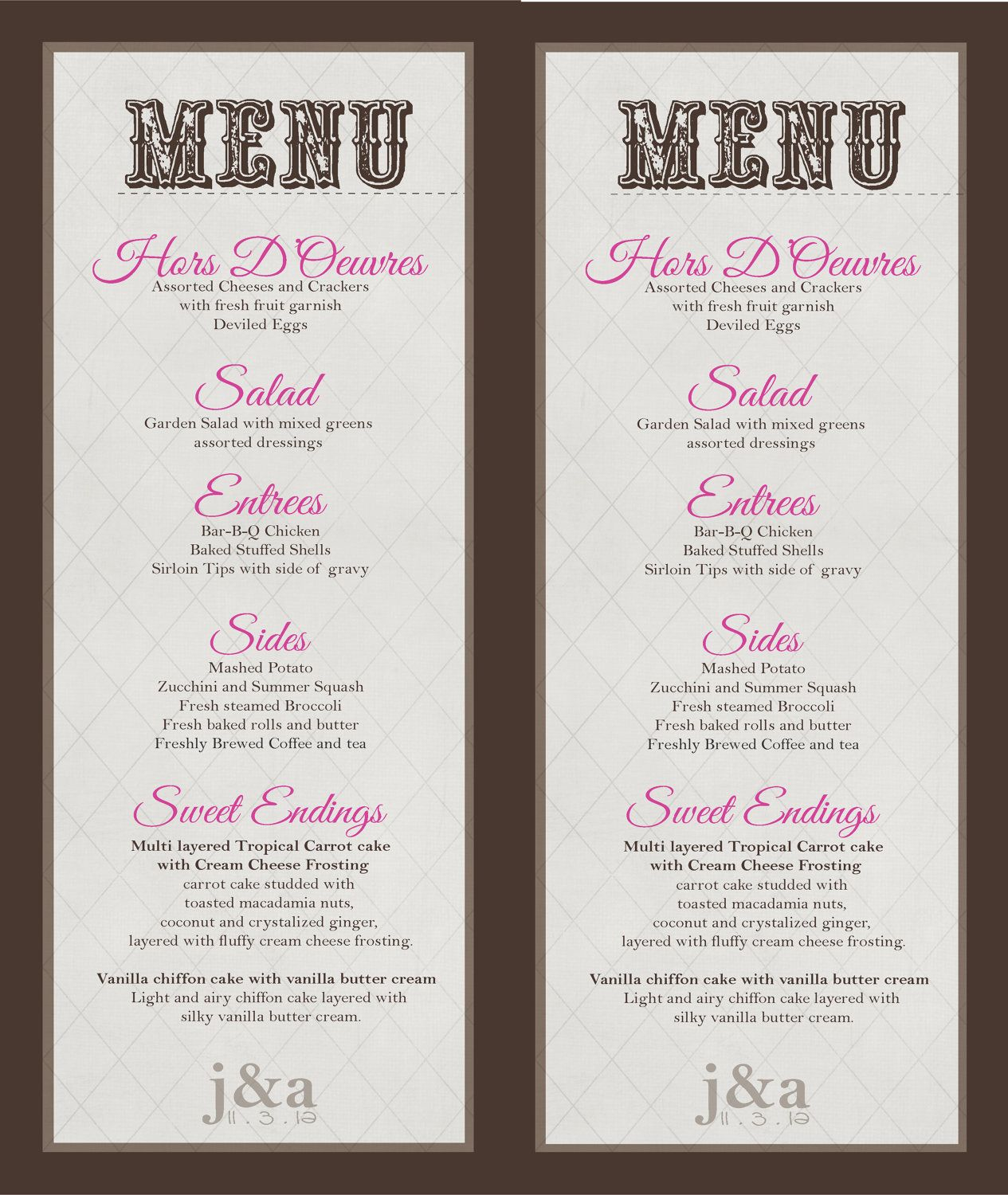Pin By Dana On Wedding And Party Inspiration Wedding Food Menu Wedding Buffet Menu Wedding Menu