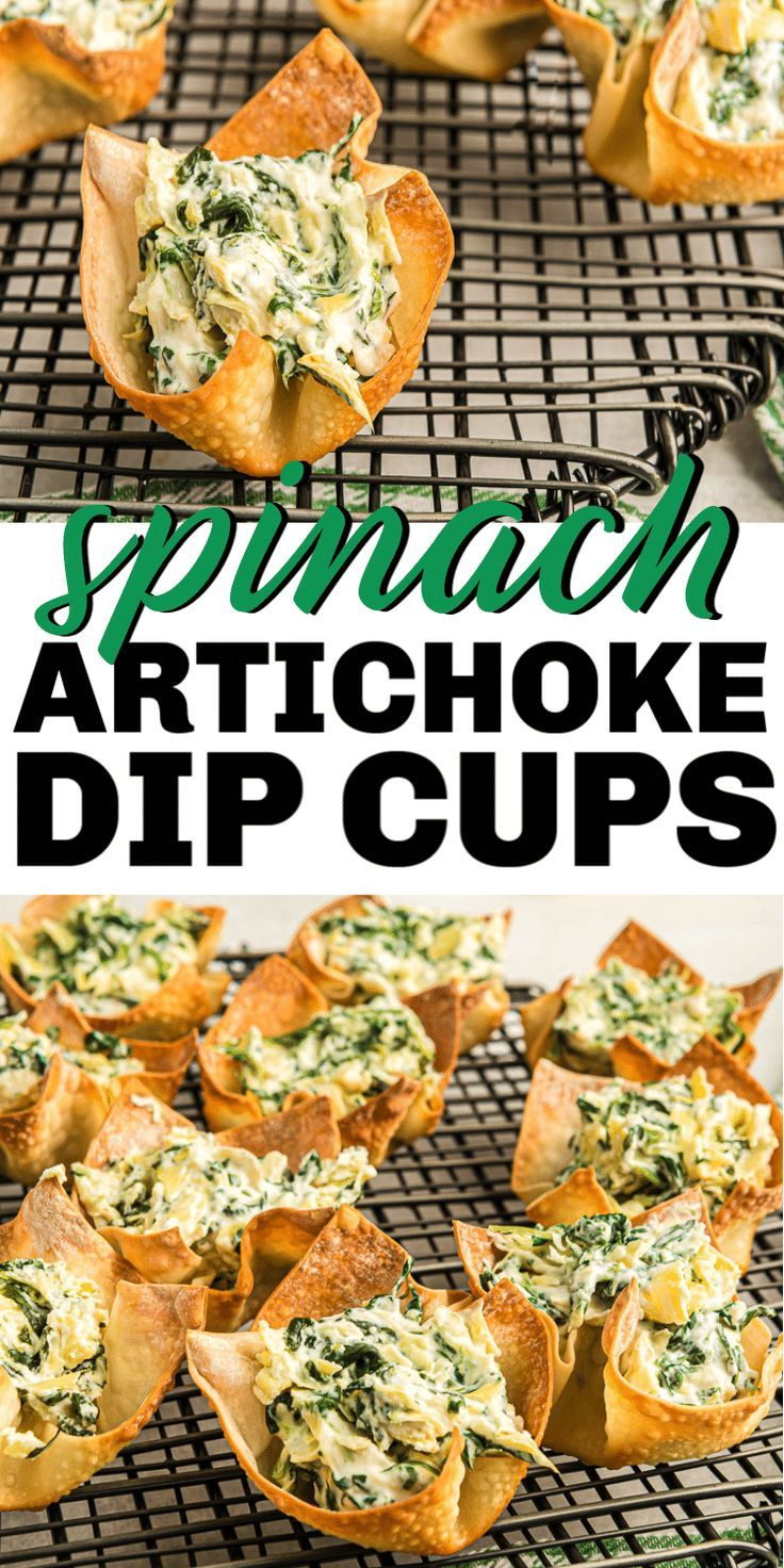 Easy Spinach Artichoke Cups
