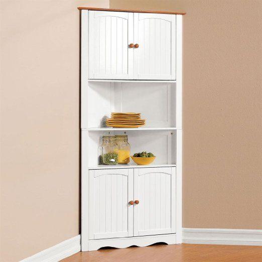 Brylanehome Country Kitchen Corner Cabinet Corner Storage Cabinet Corner Kitchen Cabinet Corner Cabinet Kitchen Storage