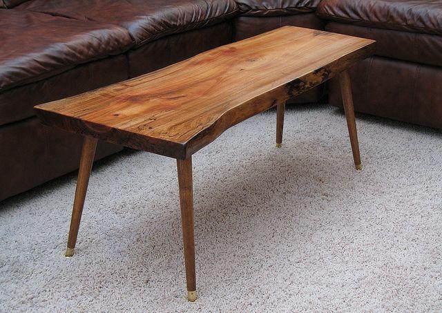 Midcentury Coffee Table Raw Wood Furniture Raw Wood Coffee Table Reclaimed Wood Coffee Table