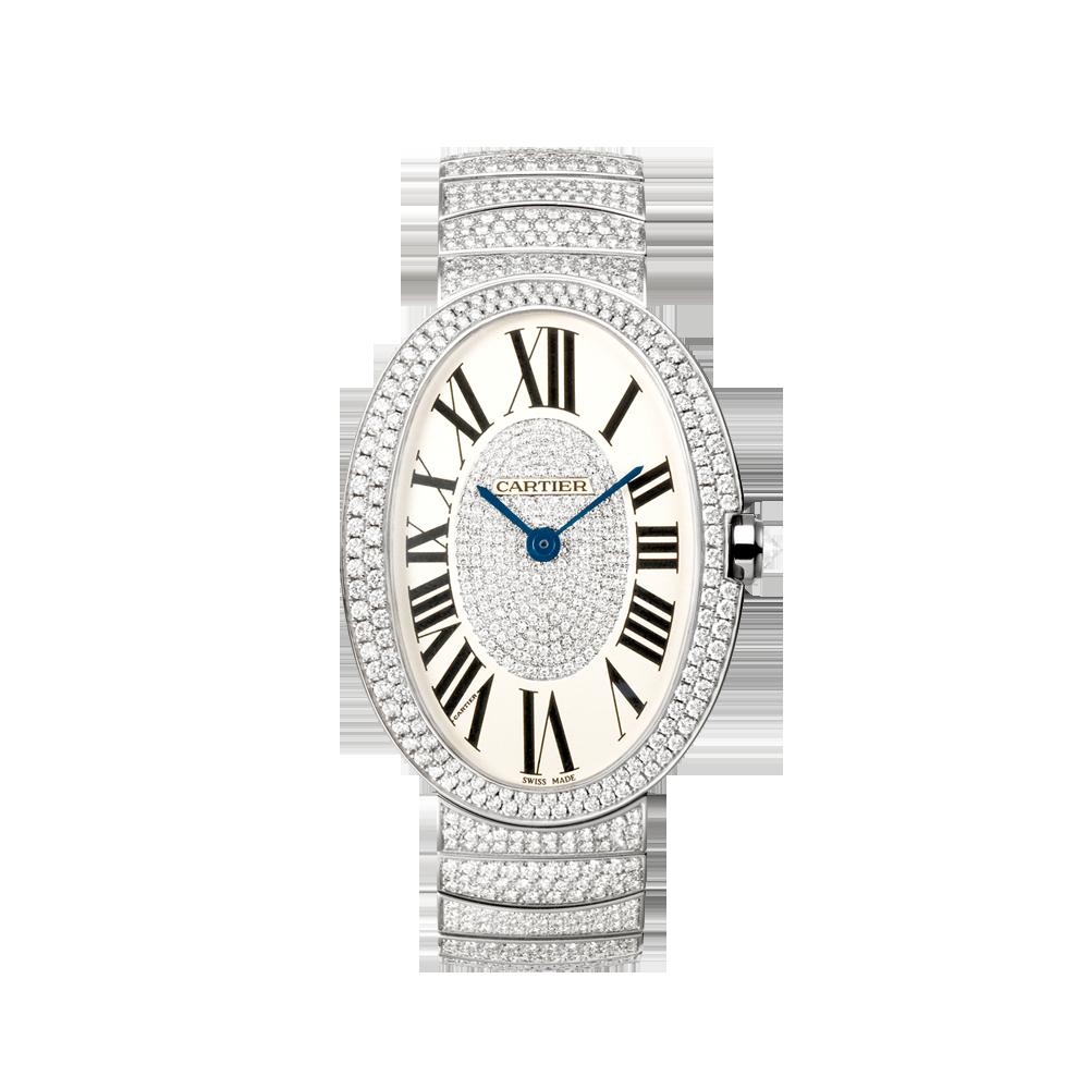 Montre baignoire gm grand mod le or gris diamants horlogerie de luxe pour femme cartier - Fond de baignoire grand modele ...