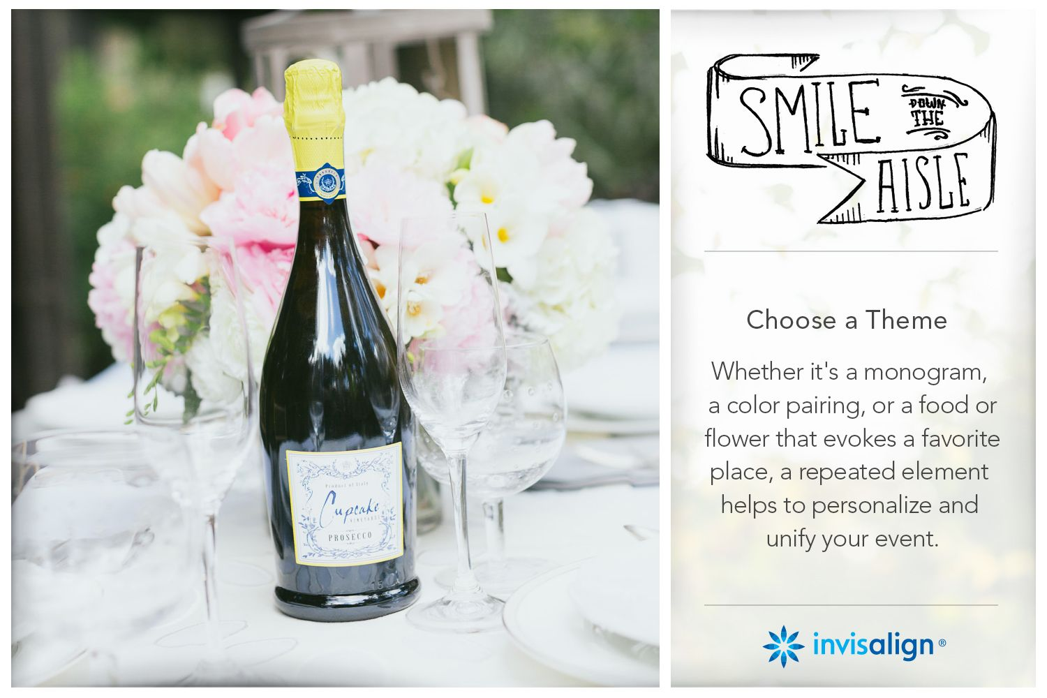 Invisalign Wedding | Smile Down The Aisle | Looking for a unique and budget-friendly centerpiece idea? Think outside the flower vase.