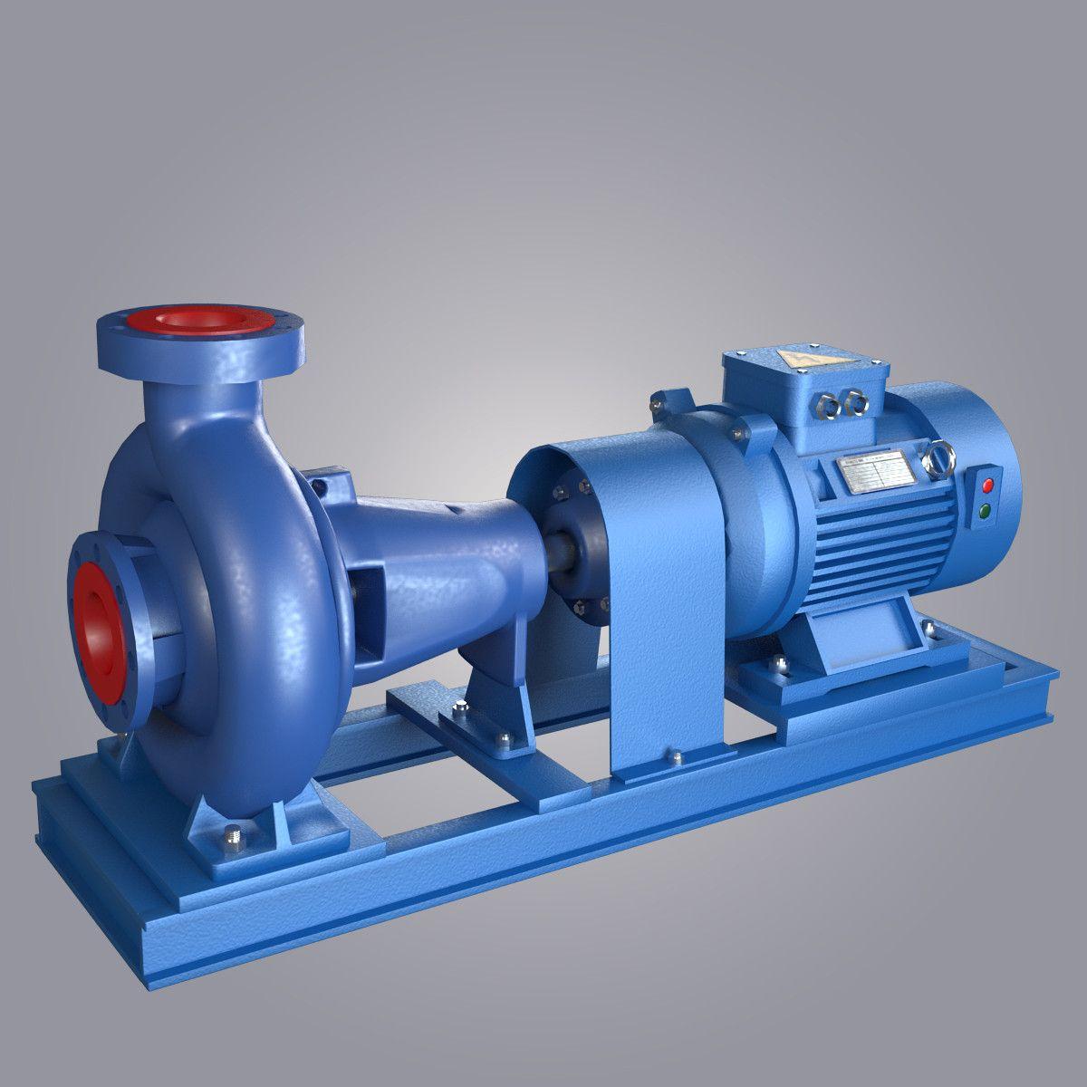 Water Centrifugal Pump 3d Model Com Imagens Trabalhos