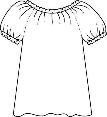 Adult-size Peasant Blouse Pattern Drafting Tutorial You