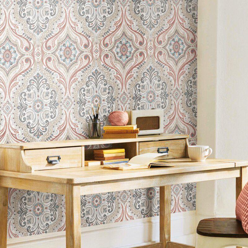 Warkentin Bohemian 18 86 L X 18 W Peel And Stick Wallpaper Roll Peel And Stick Wallpaper Roommate Decor Wallpaper Roll