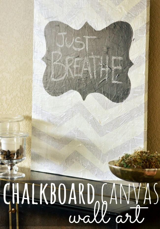 How To Make Chalkboard Canvas Wall Art Chalkboard Canvas Diy