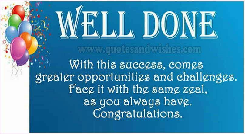 Well Done! Promotion quotes, Congratulations promotion