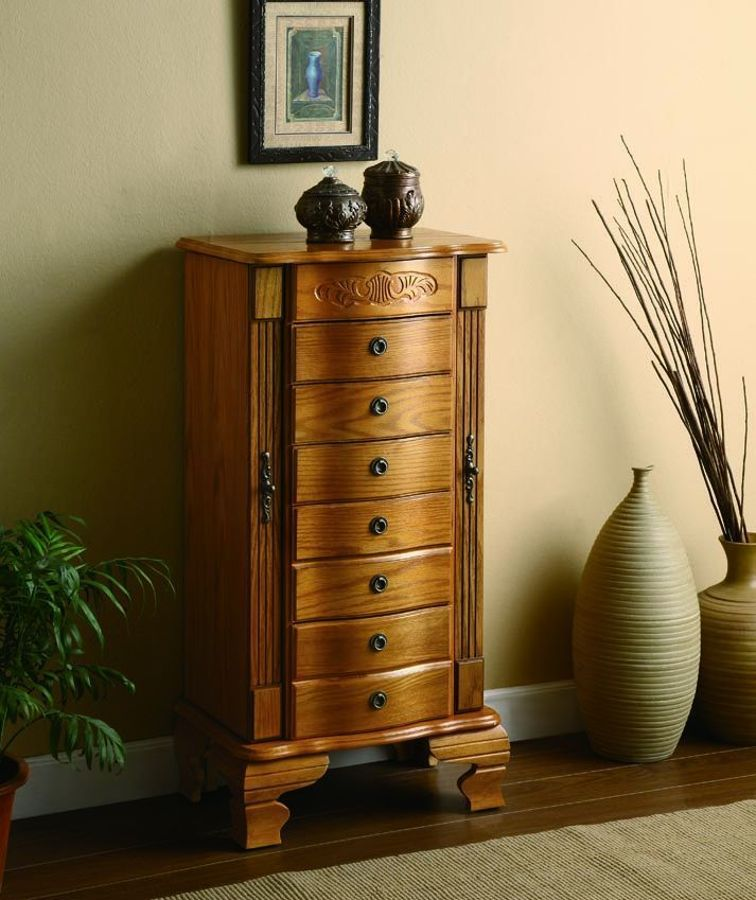 Traditional Oak Jewelry Armoire Jewelry Armoire Pinterest
