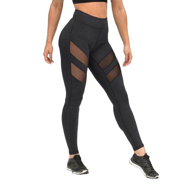 Summer harajuku leggings for women mesh splice fitness slim black legging #Livagirl