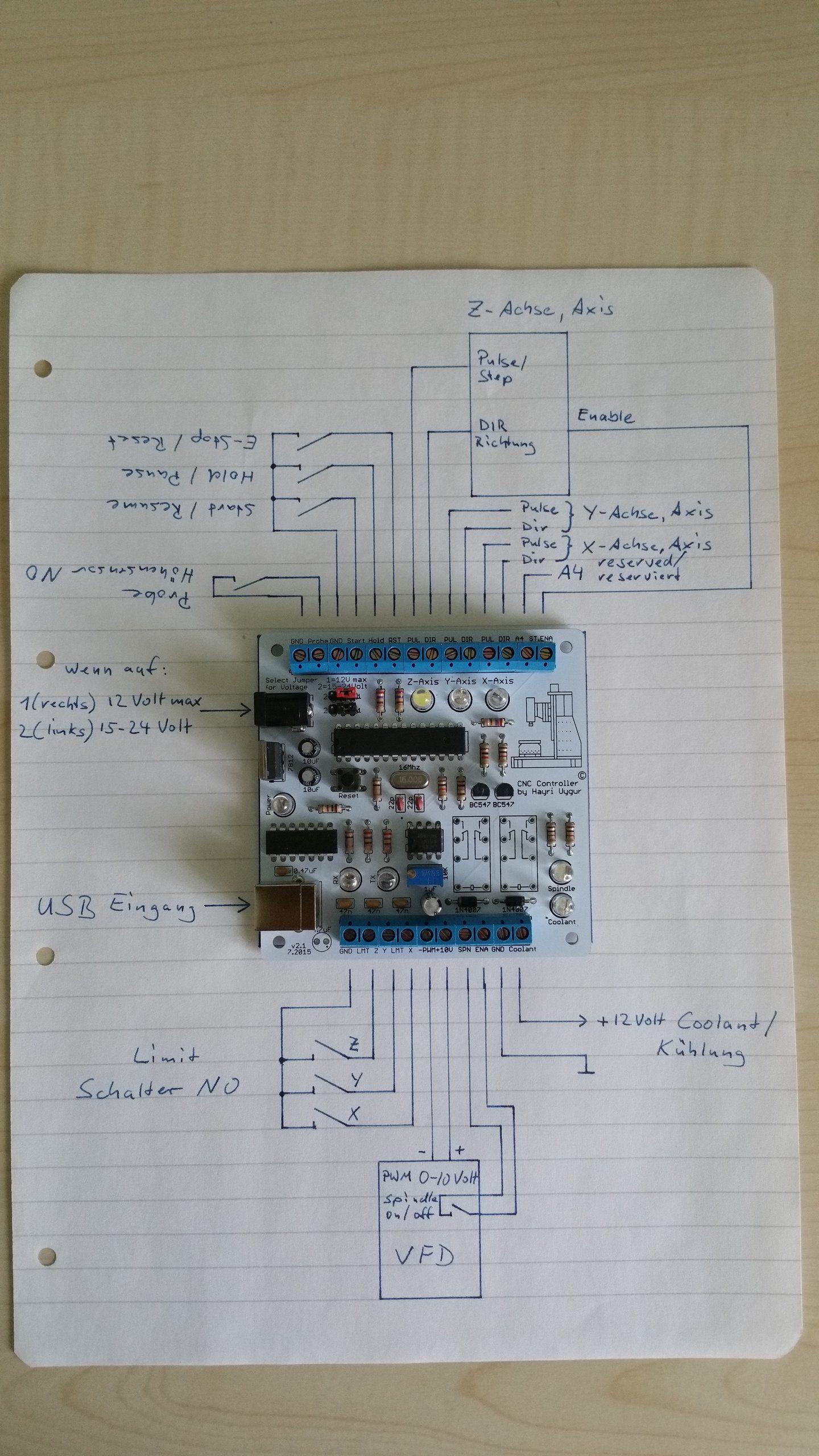Schema Elettrico Za : Phoenix usb cnc controller with pwm output diy cnc metal