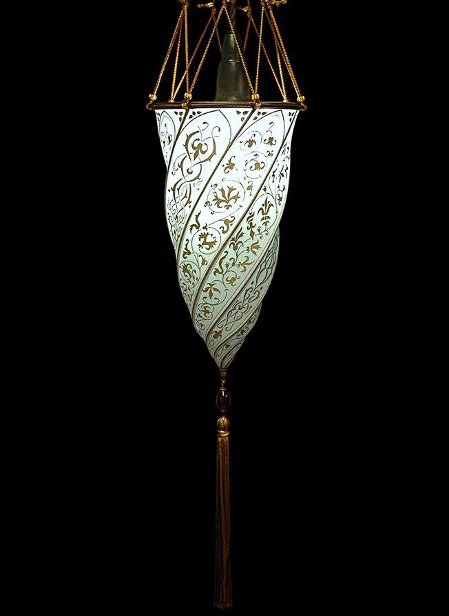 Silk Cesendello Blue Fortuny Fortuny Lighting Fortuny Blue Lamp