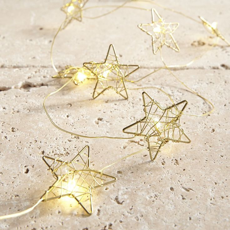 Gold Star Fairy Lights