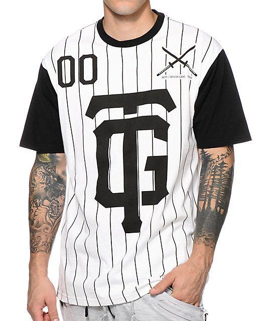 c840f119228062 Neff x Taylor Gang Sportster Pinstripe T-Shirt