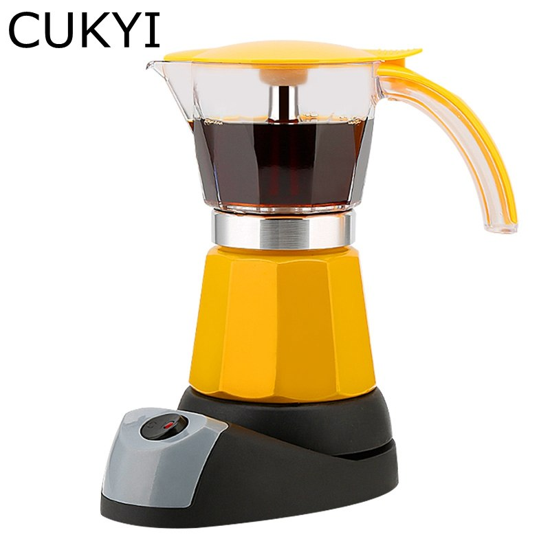 Cukyi Electrical Espresso Moka Pot Coffee Percolators Moka Pot