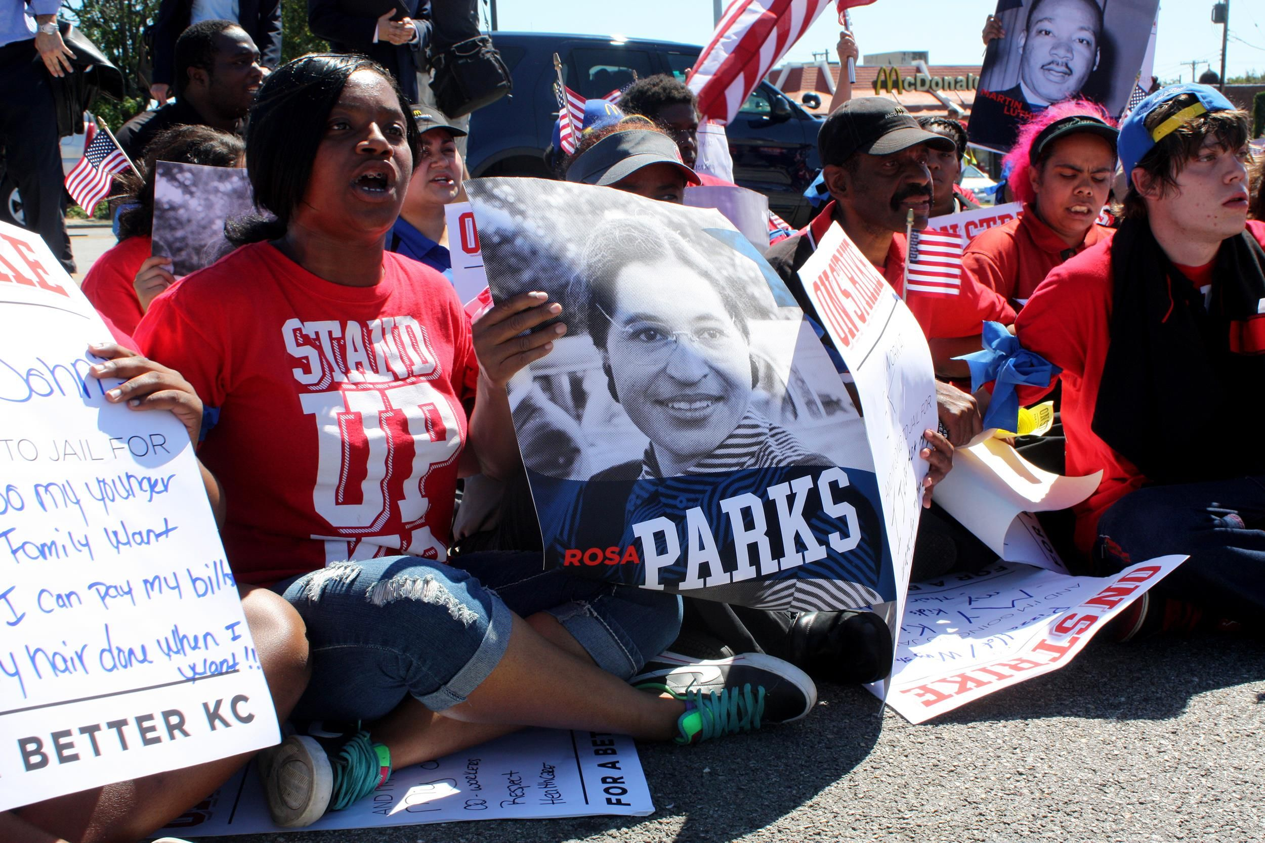 Were a movement now fast food workers strike in 150