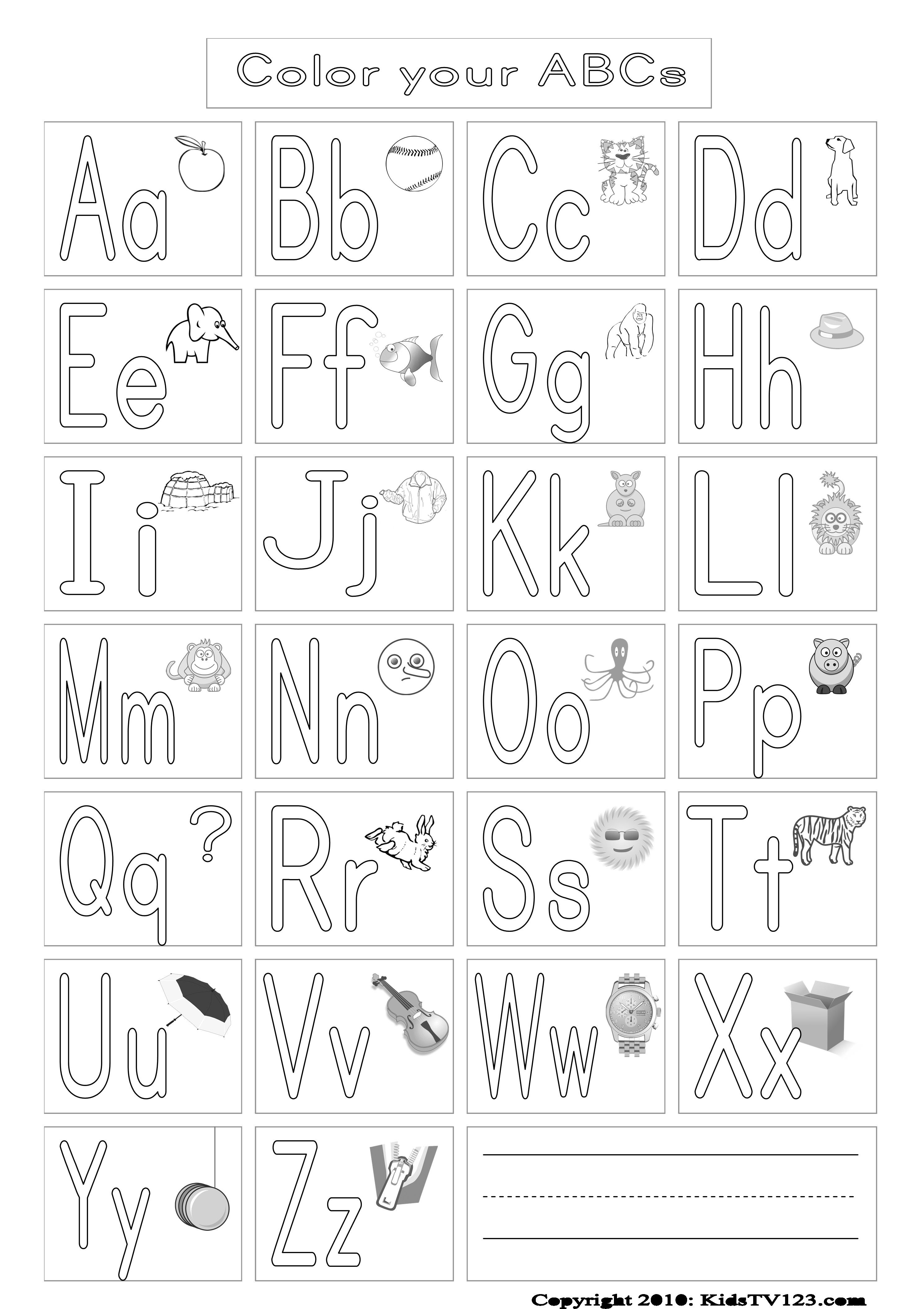 Lovely Upper And Lowercase Alphabet Coloring Pages