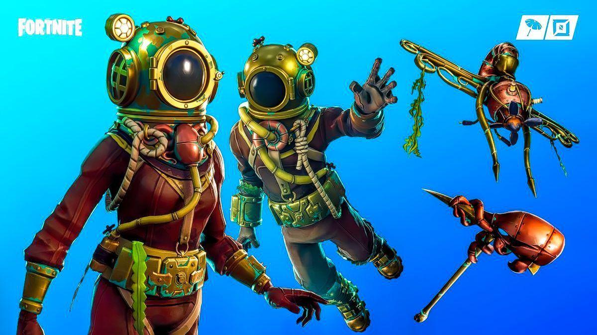 Fortnite Deep Sea Destroyer Skin And Deep Sea Dominator Skin Now