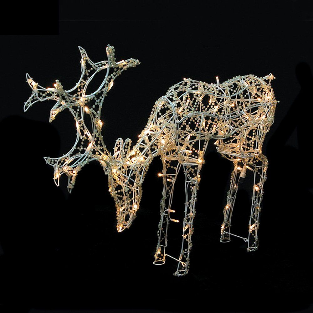 Outdoor LED Christmas Lights, Christmas Lights  Christmas Garden Lights  Light Up Reindeer