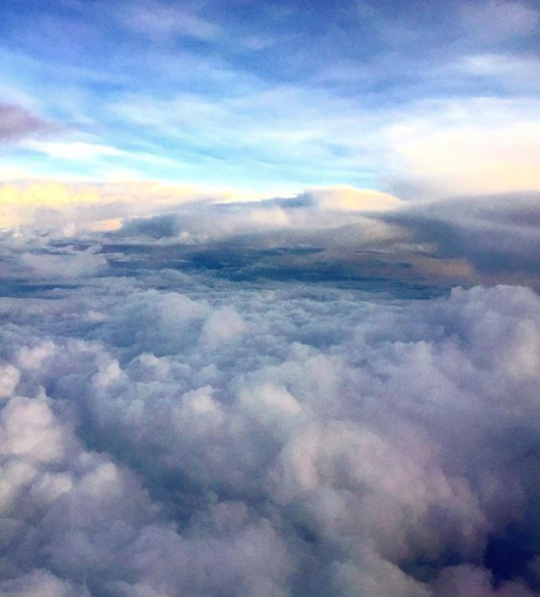 ¡Amanecimos en las nubes!