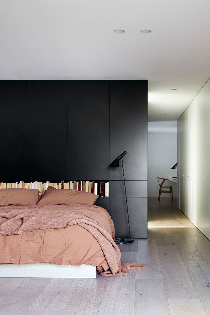 Black Brick Is Featured Throughout This Modern Australian House Bedroom Interior Bedroom Design Home