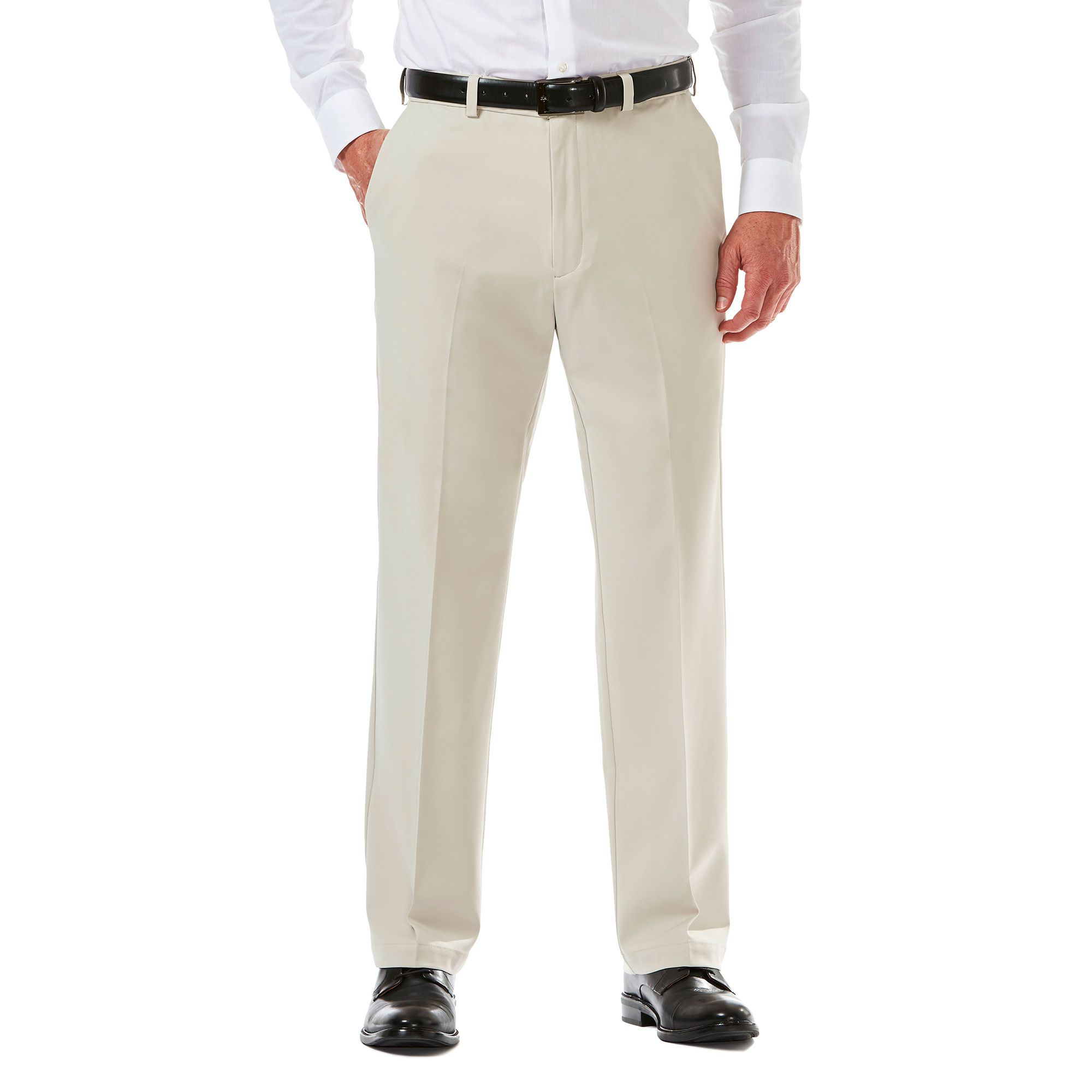 Cool 18 Pro Pant Classic Fit Flat Front Stretch No Iron Haggar Waist Pants Flat Front Pants