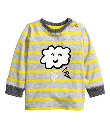Pitkähihainen T-paita | Harmaa/Raidallinen | Lapset | H&M FI