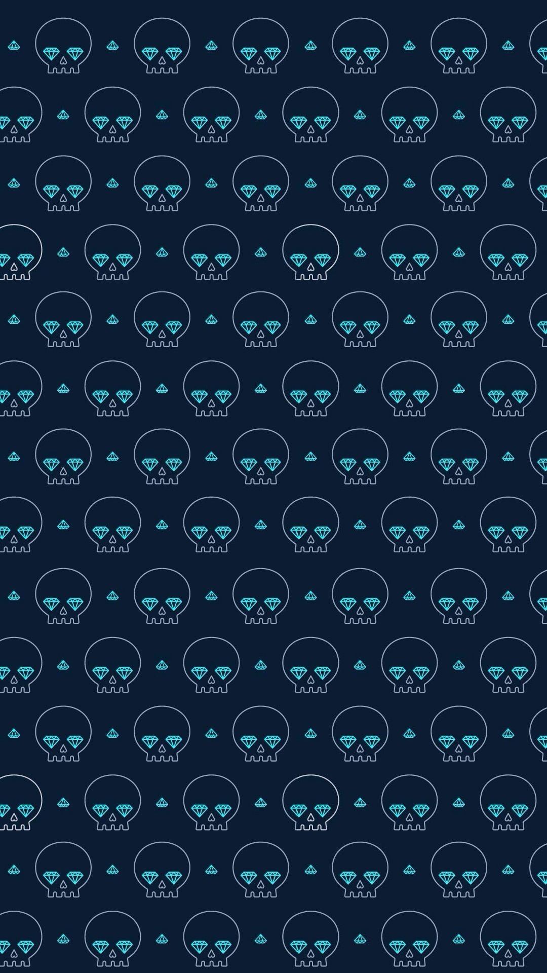 Diamonds And Skulls Pattern Tap To See More Pattern Iphone