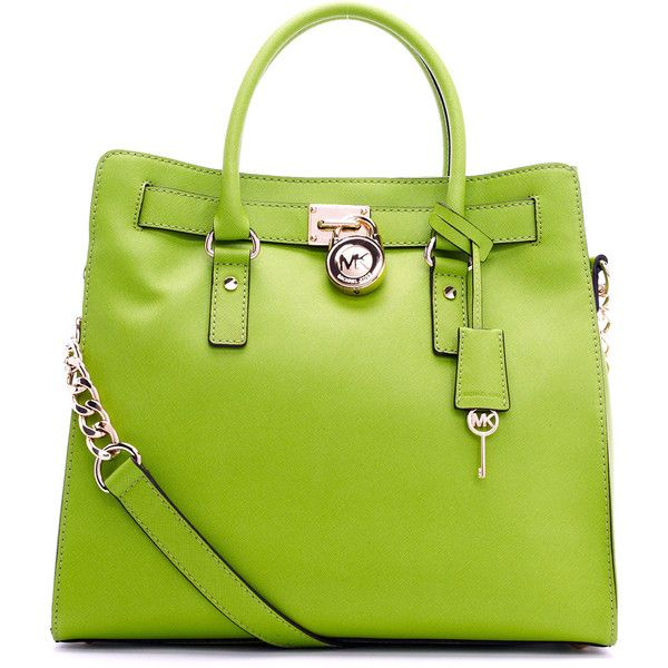 Michael Kors Hamilton Saffiano Lime Green handbag. | Handbags ...