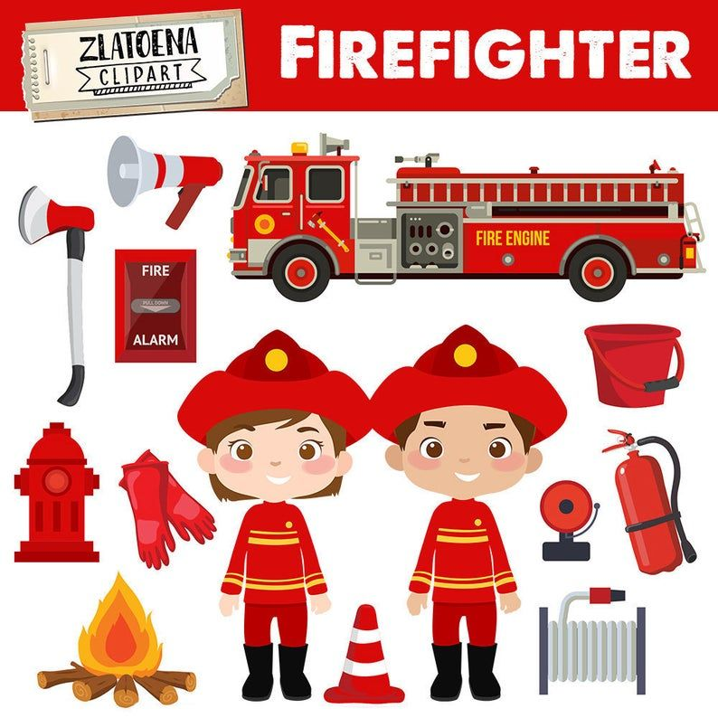 Little Firefighter Clip Art Fireman Clipart Firefighter Graphics Fire Police Car Fire Station Fire Truck Clip Art Firefighter Clip Art V 2020 G Kartinki Igry