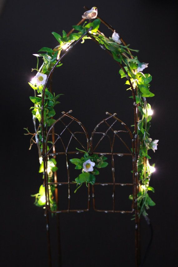 Fairy Garden Accessories Arbor with LED by TheLittleHedgerow