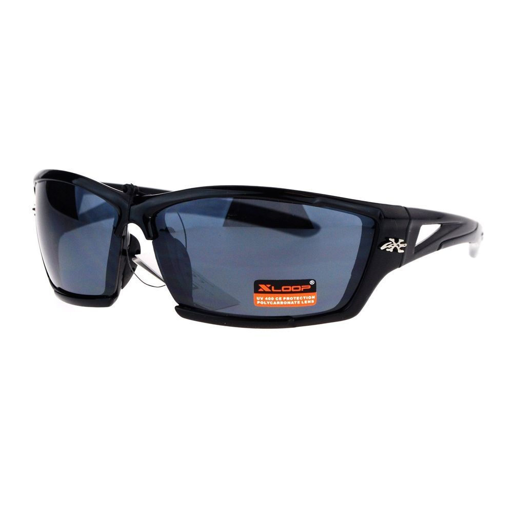 6bd473a3b74c Xloop Exposed Lens Rectangular Sport Warp Color Mirror Sunglasses Black  #fashion #clothing #shoes #accessories #mensaccessories ...