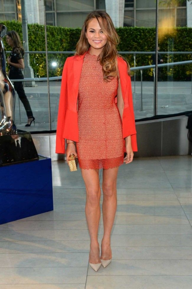 2014 CFDA Awards: Chrissy Teigen in Rachel Roy and Christian Louboutin shoes