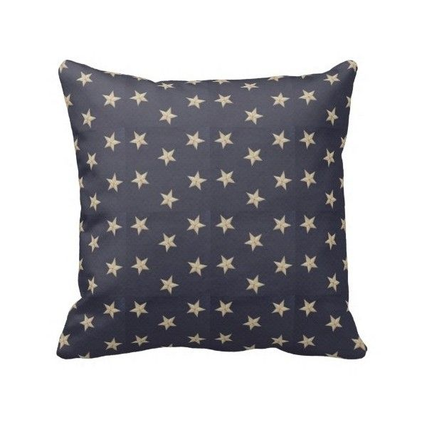 Americana Stars Pillow 40 Liked On Polyvore Featuring Home Inspiration Americana Decorative Pillows