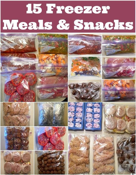 15 freezer meals and snacks freezer food prep and meals crock pot meals a well stocked freezer can make healthy eating easy during busy weeks here are 15 freezer meals and snacks that can be made ahead of time forumfinder Choice Image